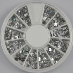 1,800 Piece CLEAR MIXED SHAPES rhinestone wheel  ***ONLY £1.66***